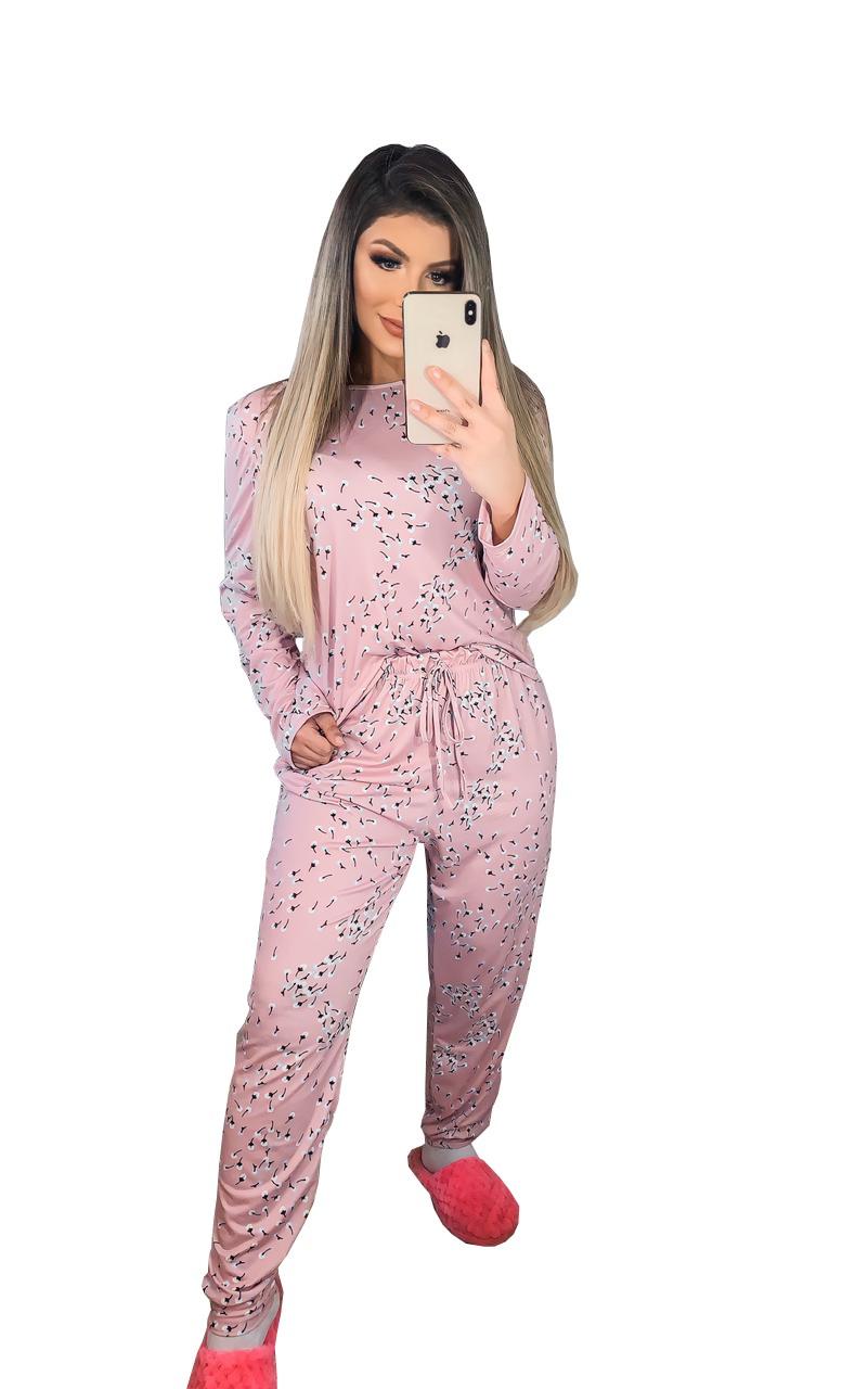 Pijama Estampado Conjunto Blusa e Calça