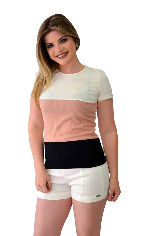 Blusa De Malha Tricolor