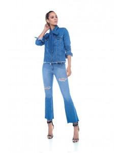 Jaqueta Jeans com Laço