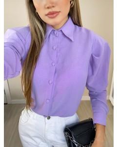 Camisa Manga Longa Bufante Lilás