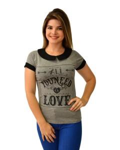 T-Shirt Com Gola