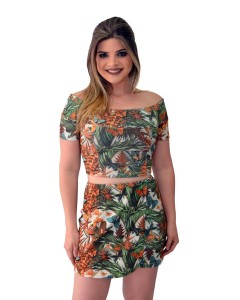 Top Cropped Decote Ciganinha