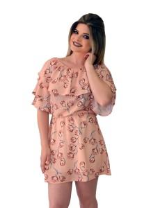 Vestido Ciganinha Estampa Tulipas