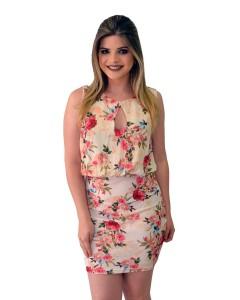 Vestido Estampa Rosas
